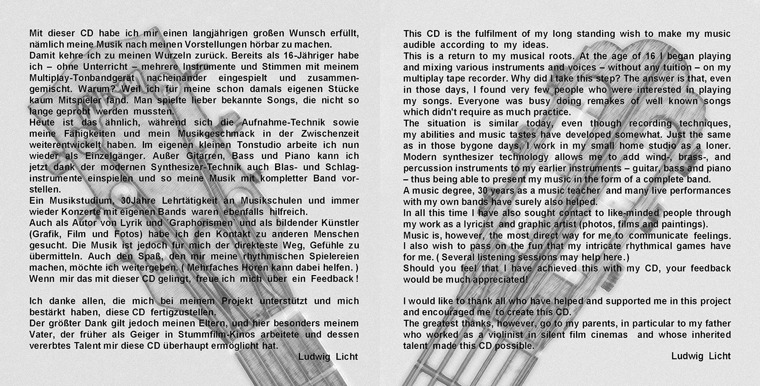 CD-Booklet Ludwig Licht