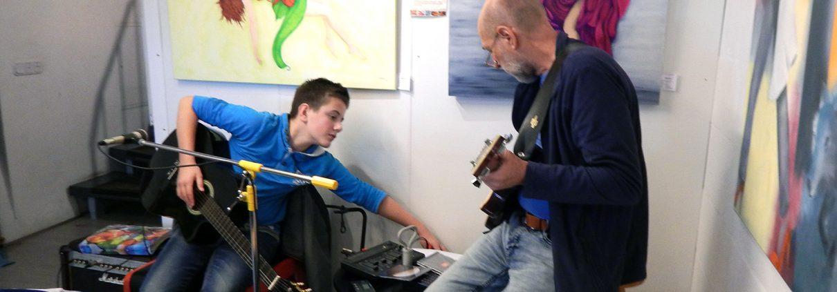 Ludwig Licht mit seinem Schüler Henning Franz (Foto: Marzena Sychowicz)