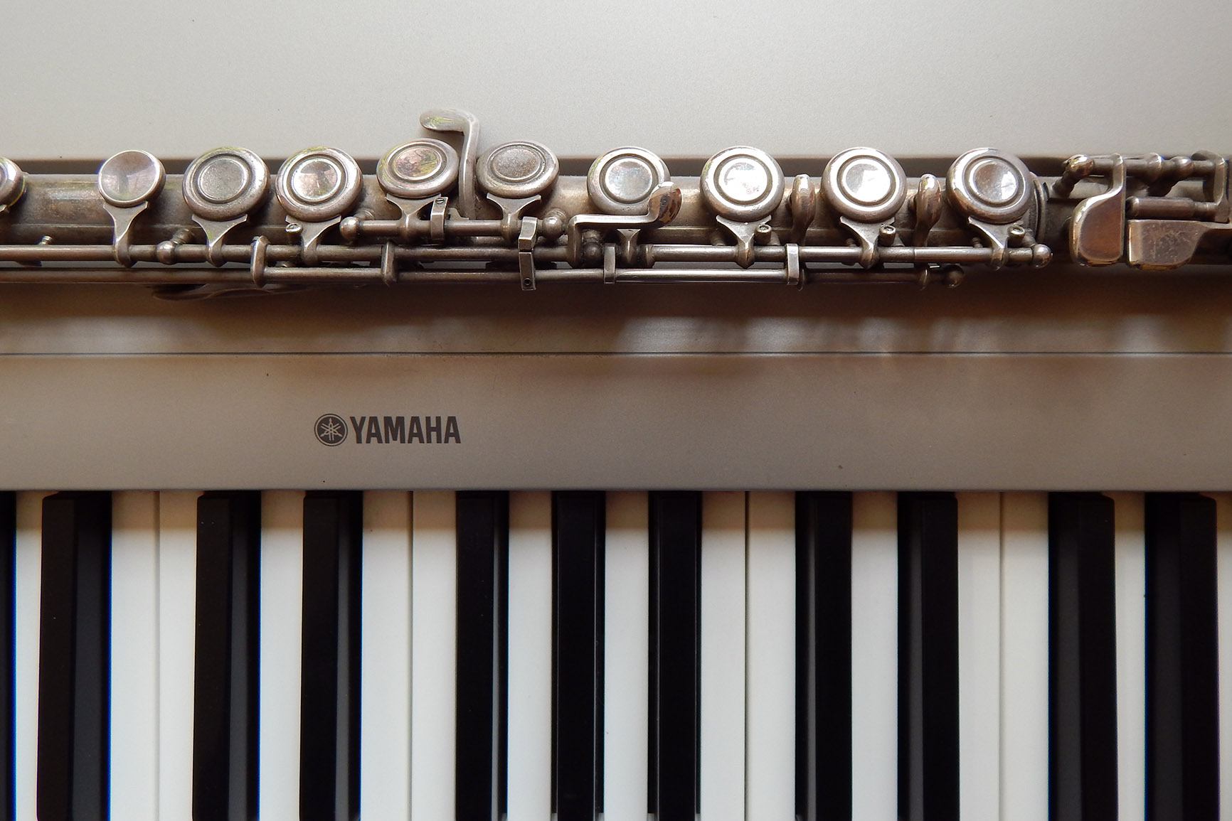 Querflöte und E-Klavier von Ludwig Licht
