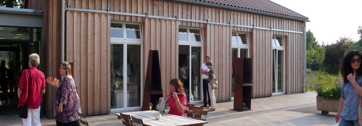 Der Ausstellungs-Pavillon (Foto: Ha-Jü Schaeffer)