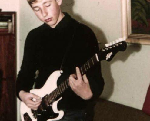 Licht mit erster E-Gitarre
