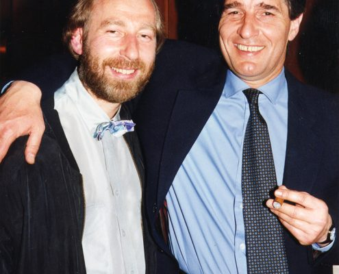 Ludwig mit seinem Cousin Rudi Assauer
