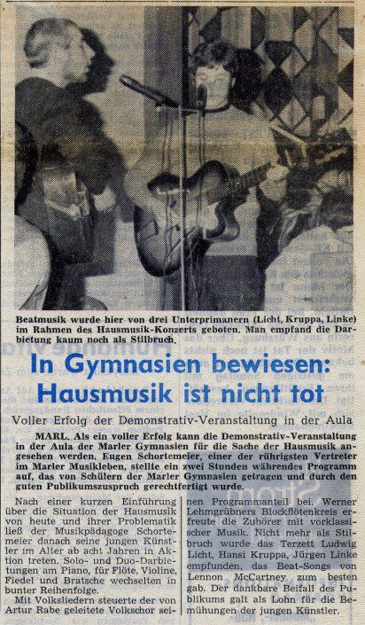 Marler Zeitung 25.11.1968