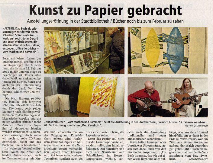 Ruhr-Nachrichten 24.10.2011