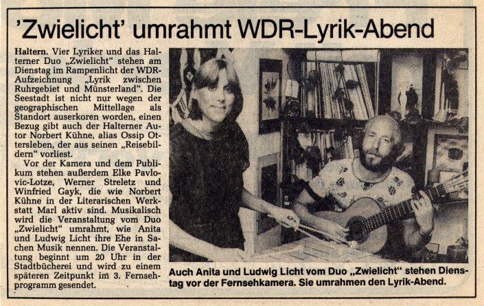 Ruhr-Nachrichten 26.10.1985