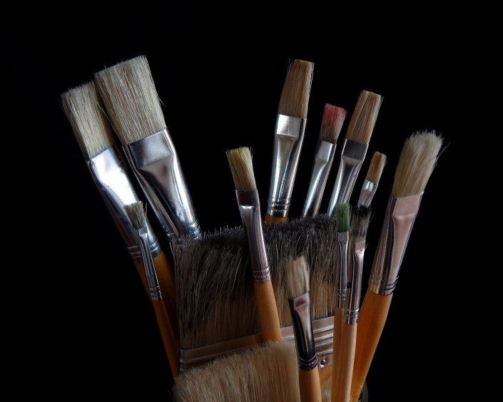 Die Pinsel von Ludwig Licht für seine Malerei
